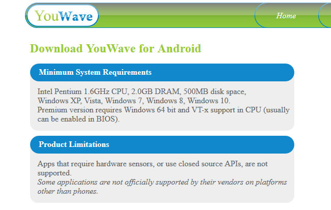 YouWave is the first fast Android Emulator in the market.